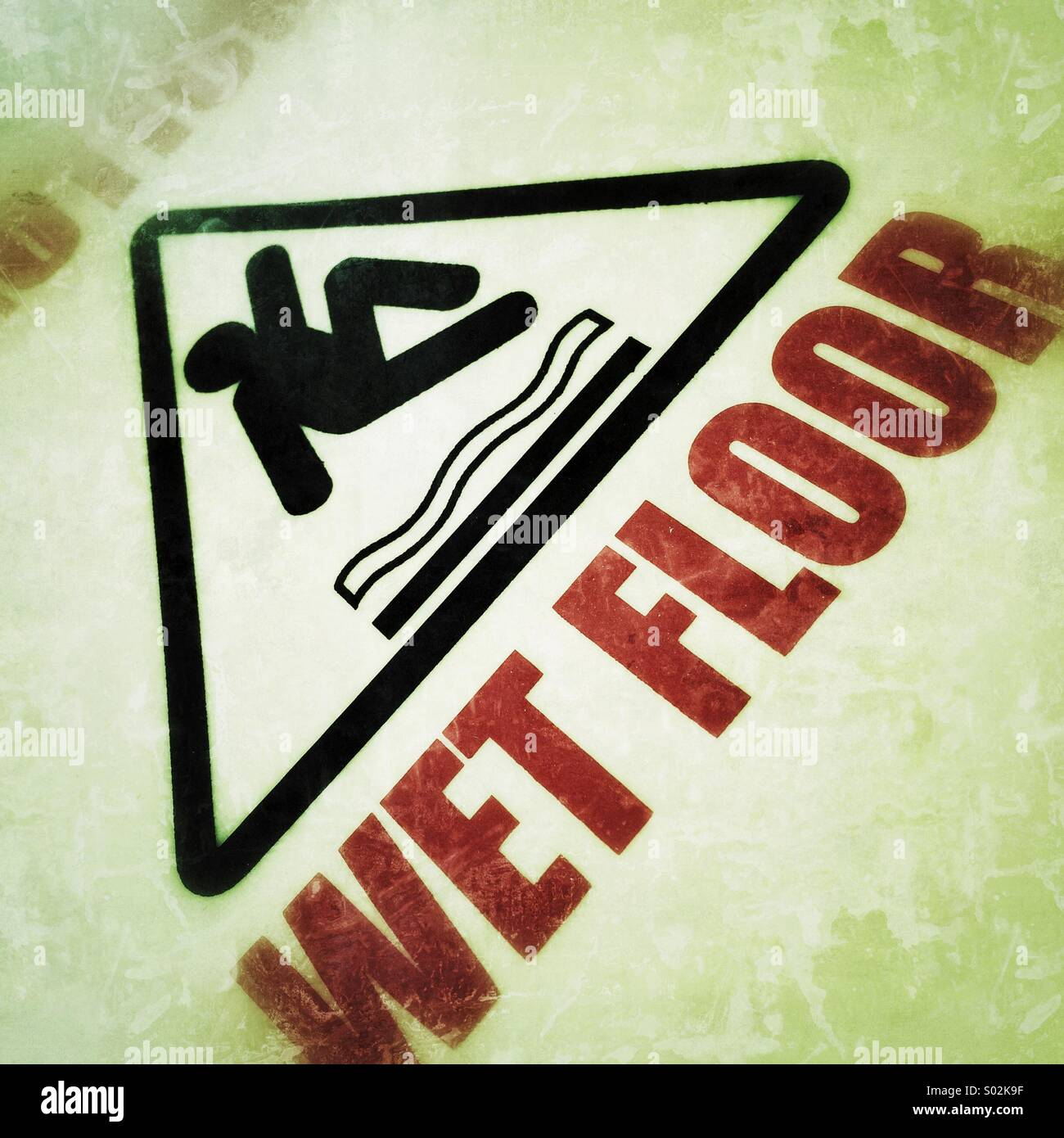 Piso mojado, señal de advertencia Imagen De Stock