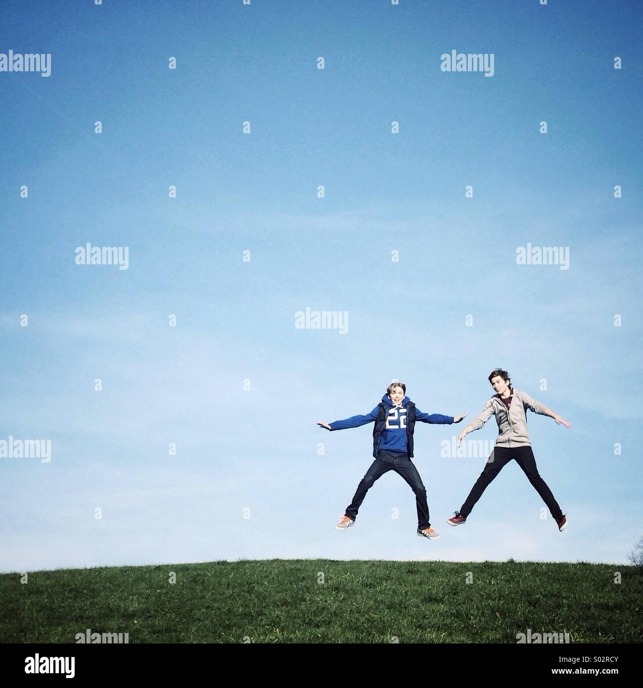 Amigos felices Imagen De Stock