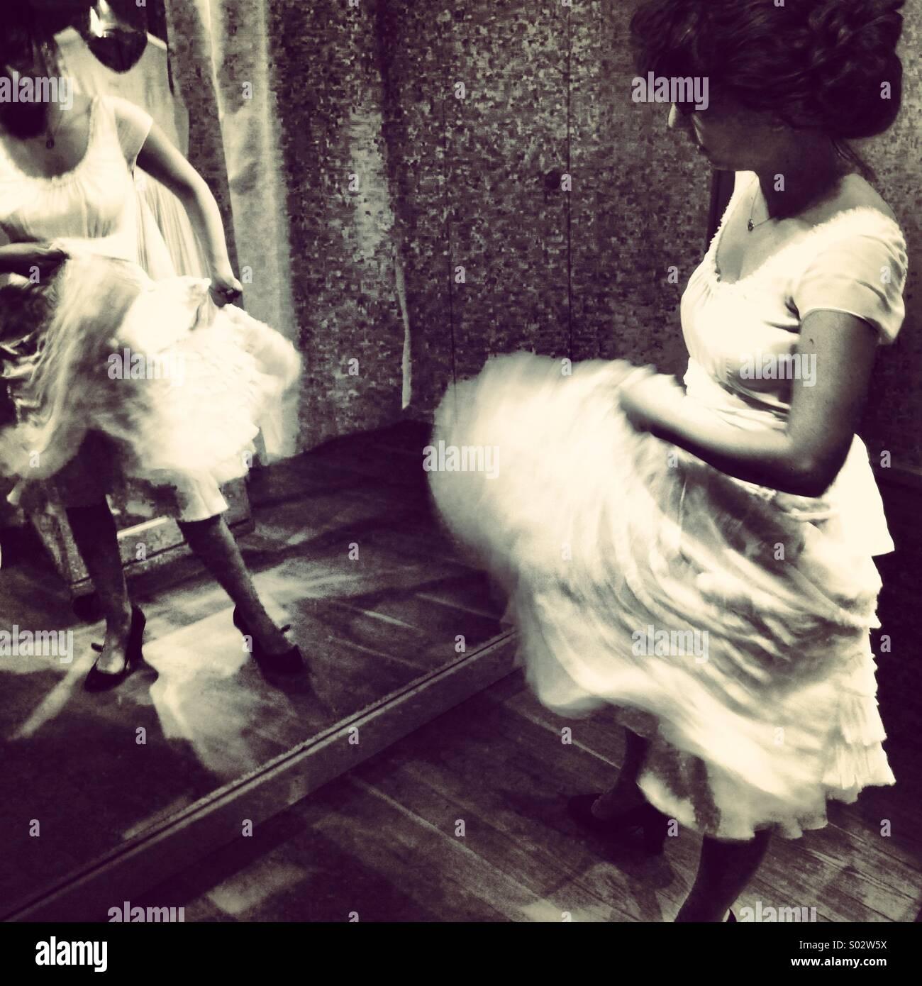 Movimiento vestido de boda Imagen De Stock