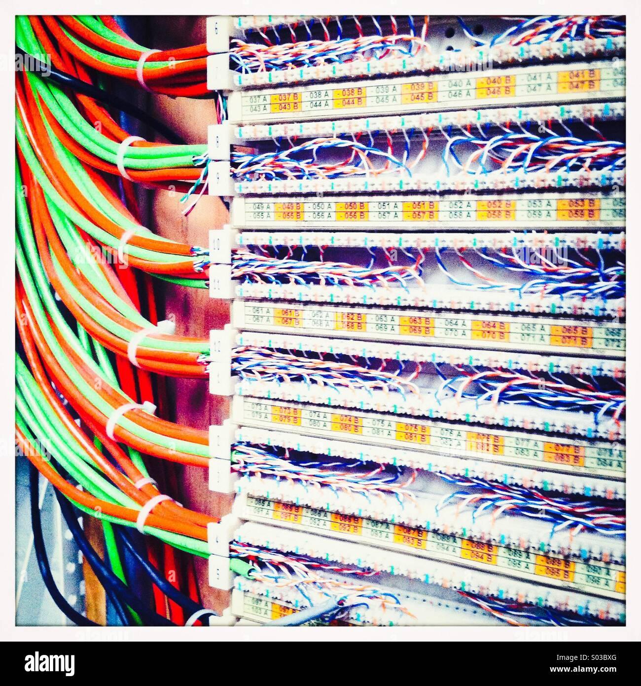 Placa de conmutación de telecomunicaciones Imagen De Stock