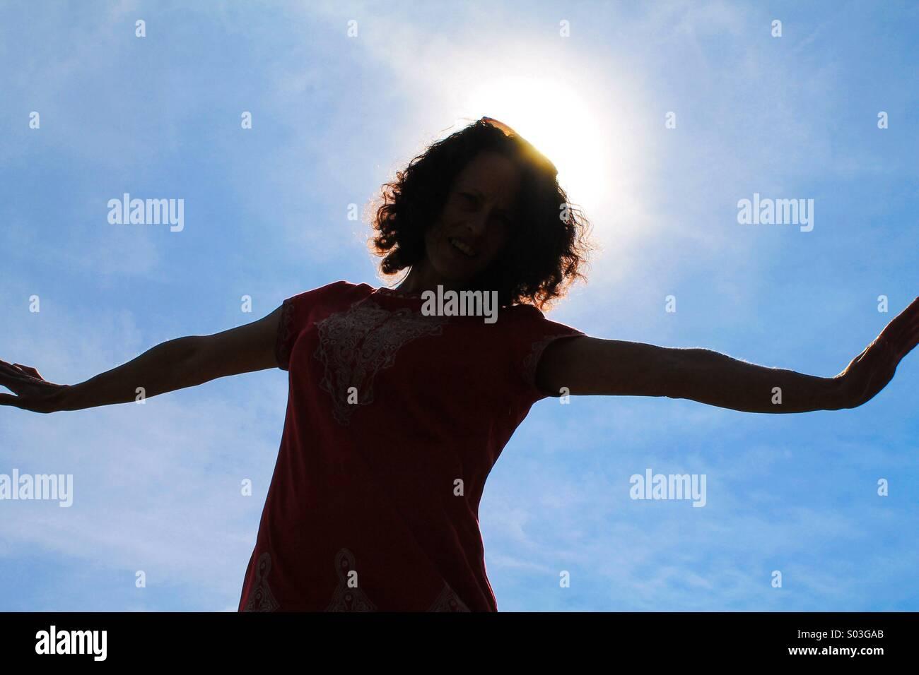 Un verano sillouette Imagen De Stock