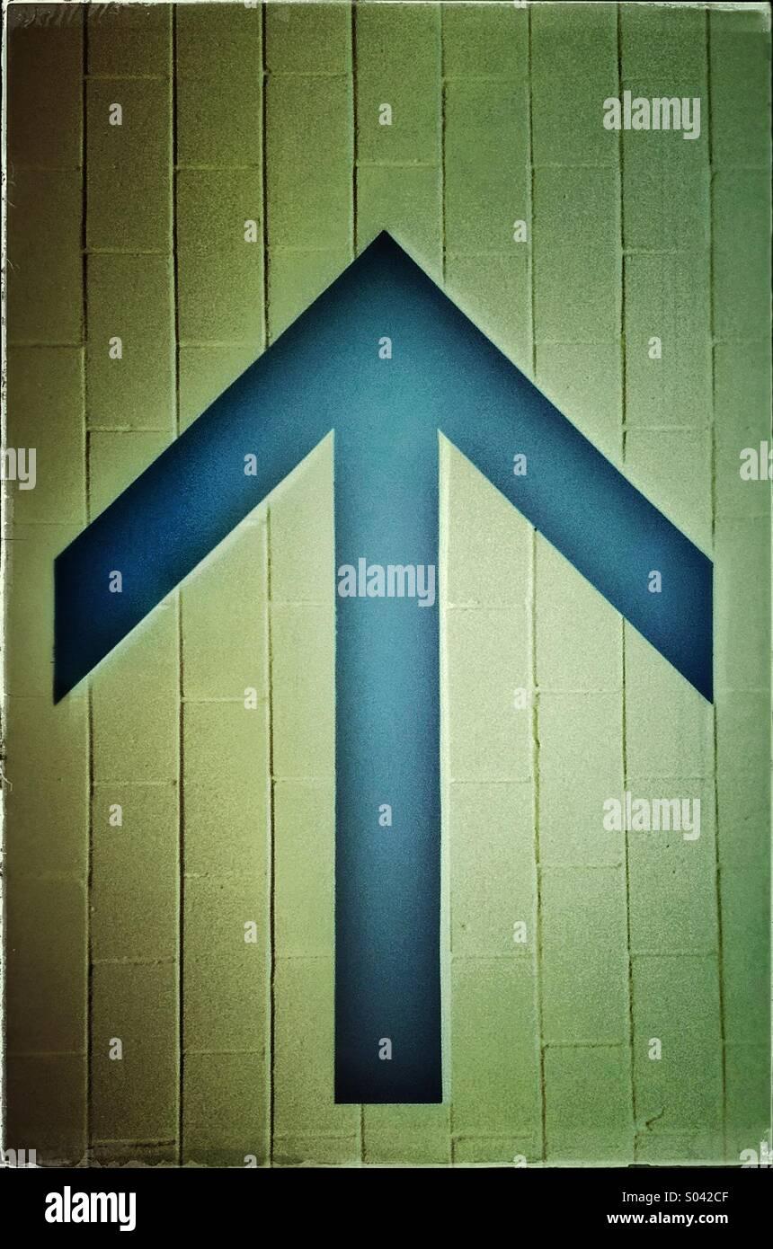 Cartel flecha Foto de stock