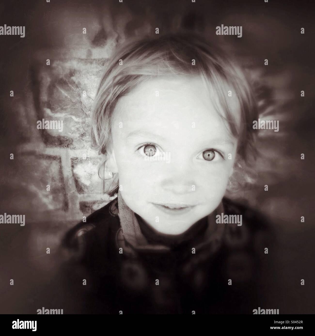 Retrato de un niño Imagen De Stock
