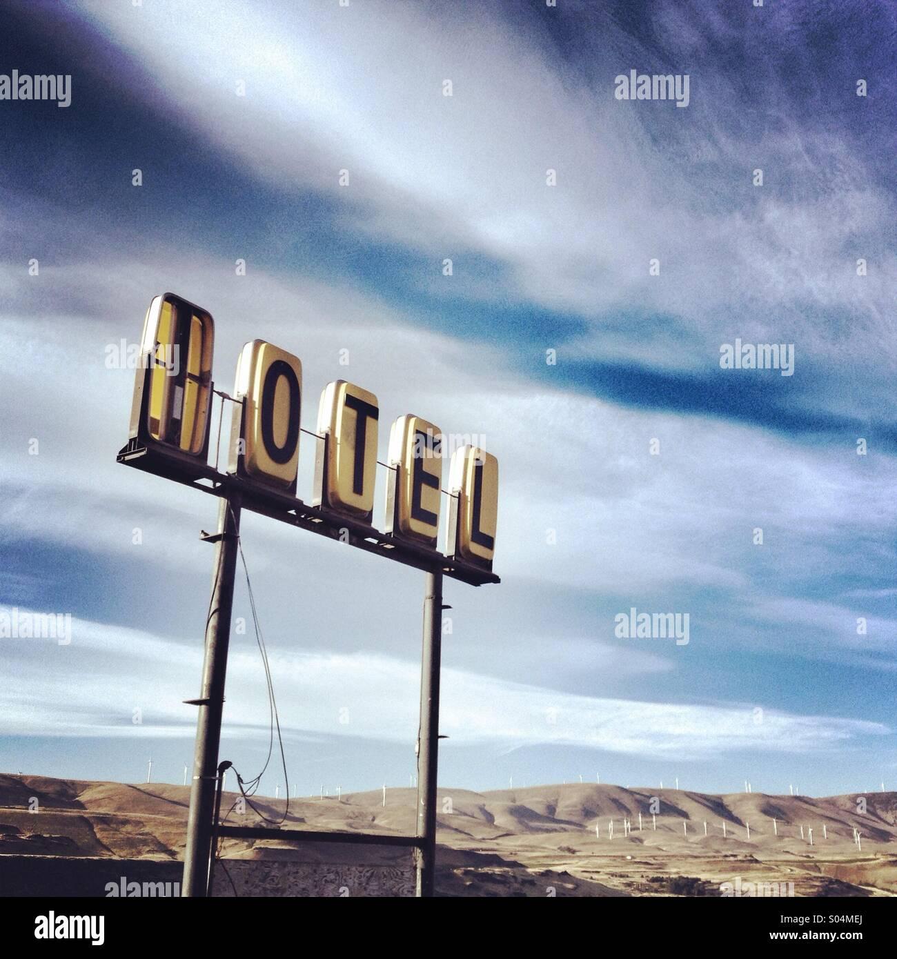 Vintage motel firmar en Oregon Imagen De Stock