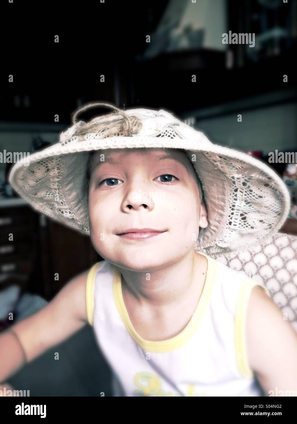 Muchacho de Tom Sawyer Foto de stock