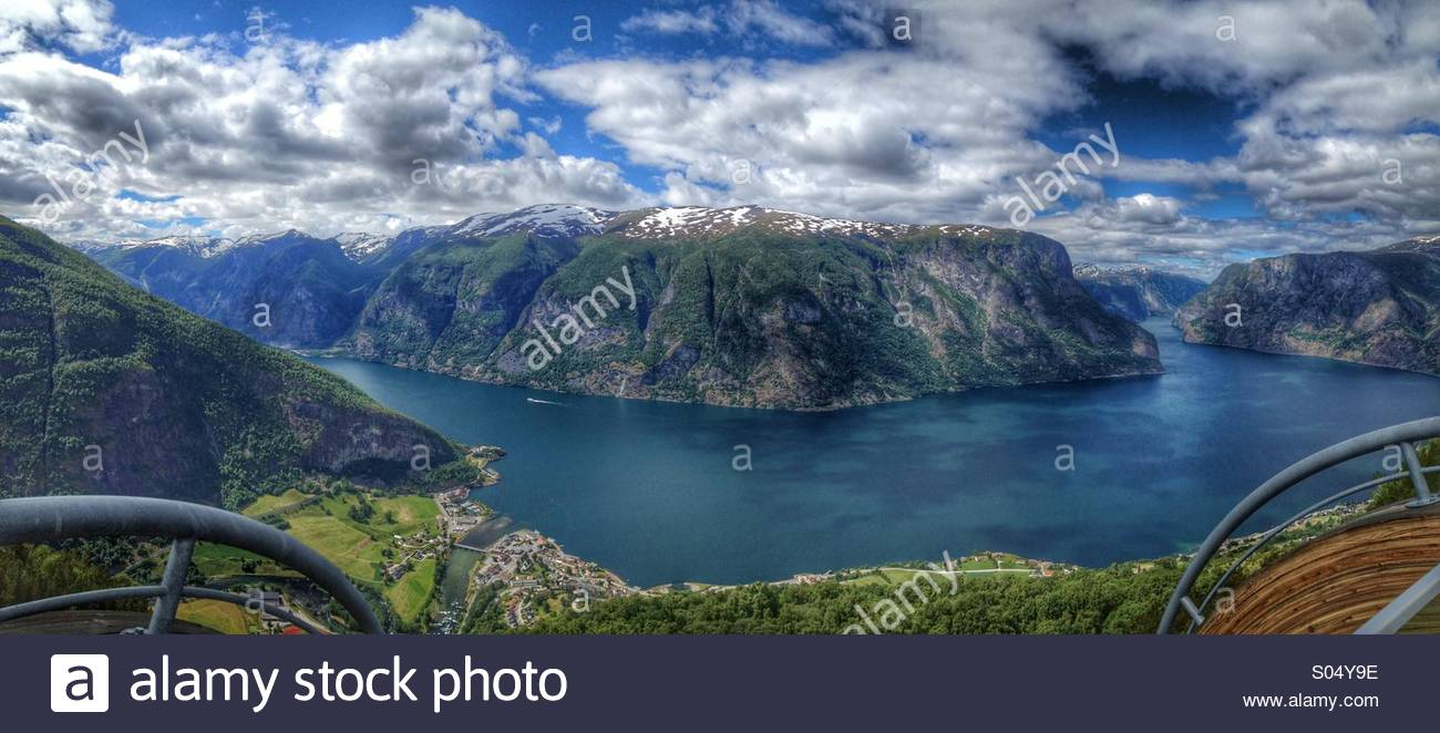 Aurland, Noruega Imagen De Stock