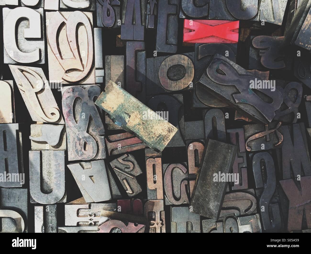 Tipografía letras. Imagen De Stock