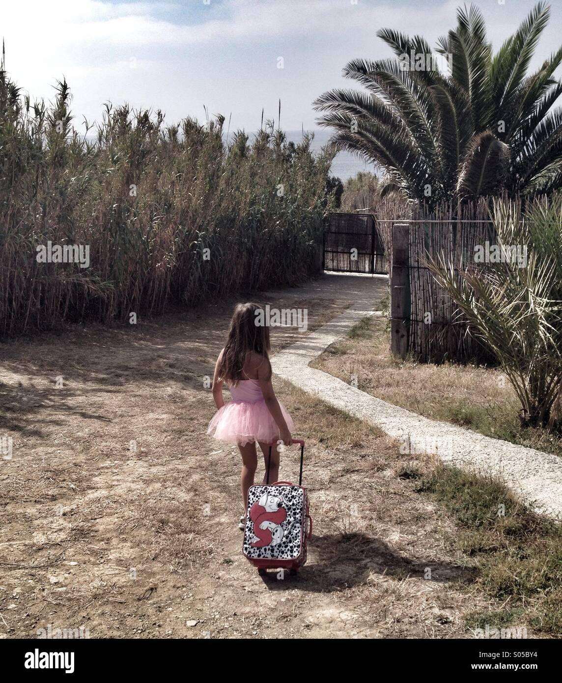 Chica yendo de vacaciones Imagen De Stock