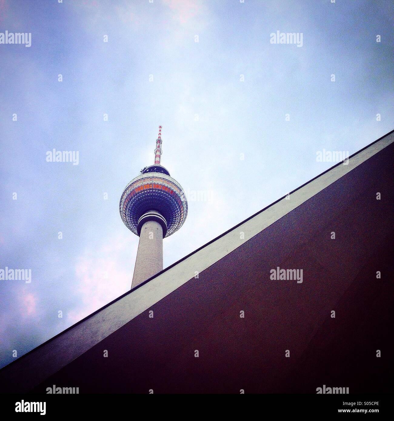 Torre de TV en Berlín oriental Imagen De Stock