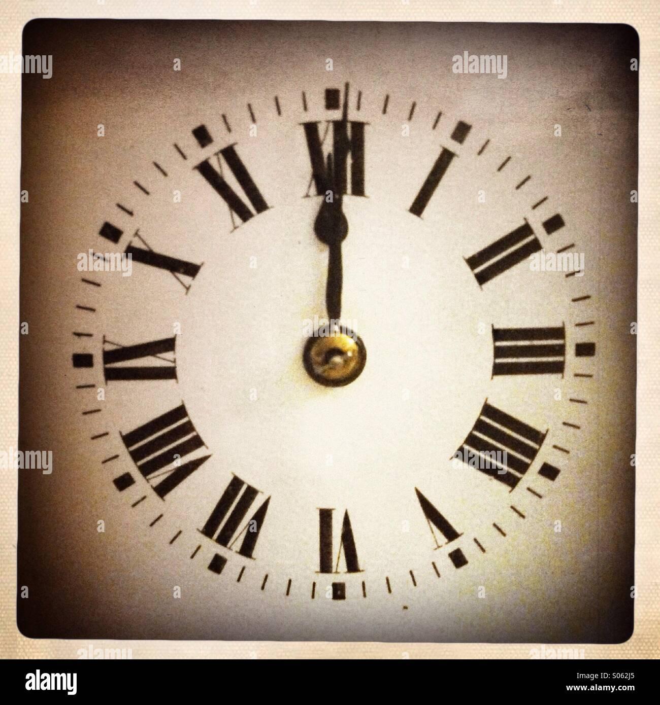 La medianoche hora Imagen De Stock