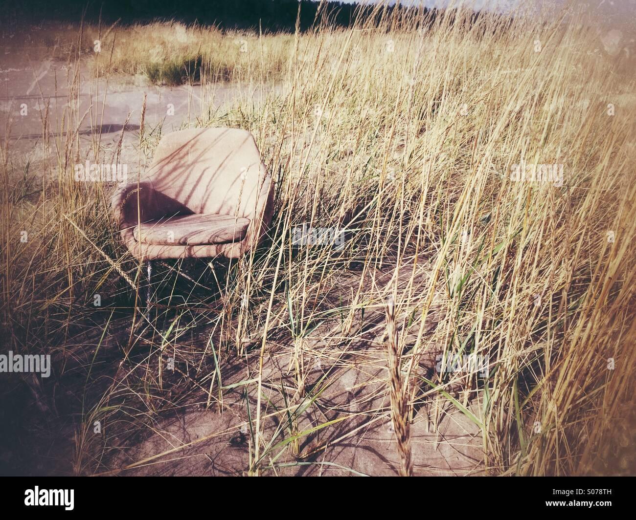 Tumbona en la playa Imagen De Stock