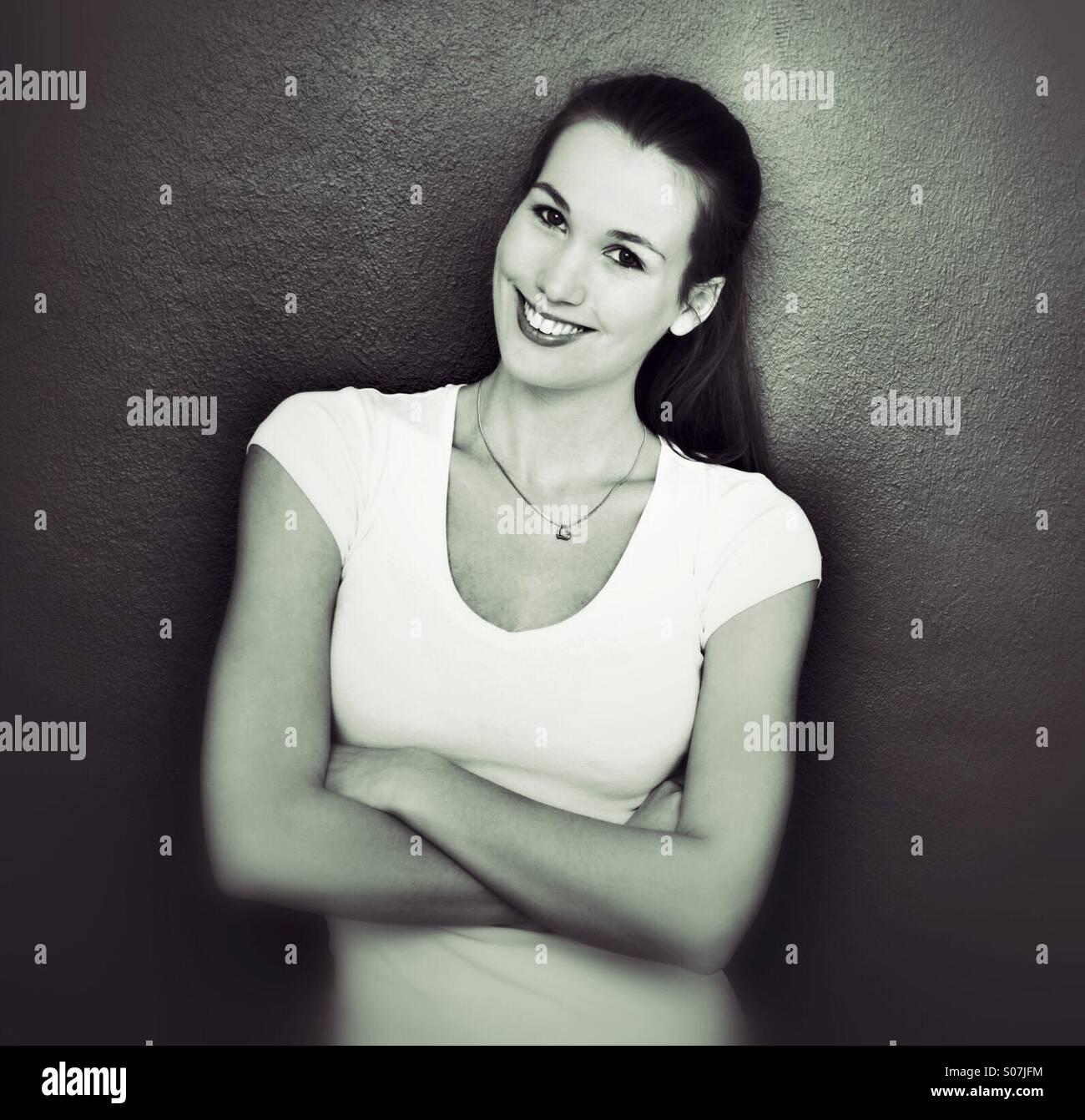 Atractiva mujer joven Imagen De Stock