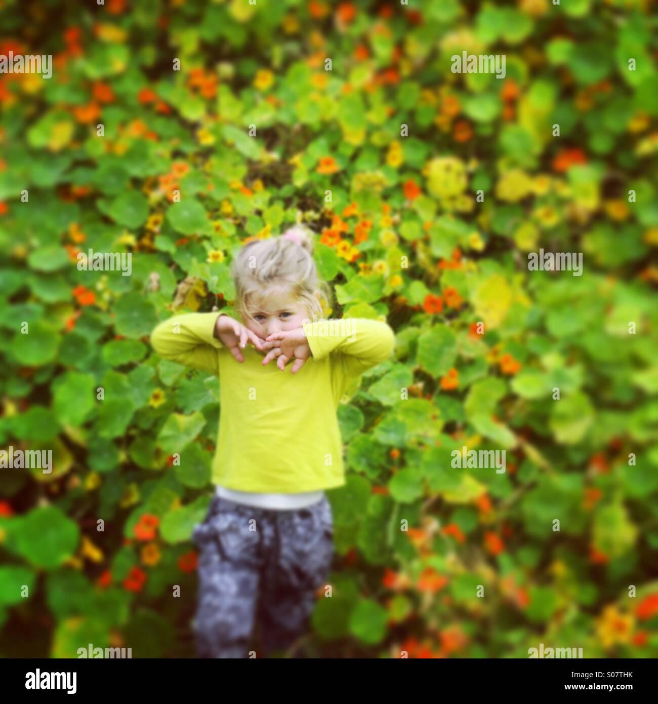 Retrato florido Imagen De Stock