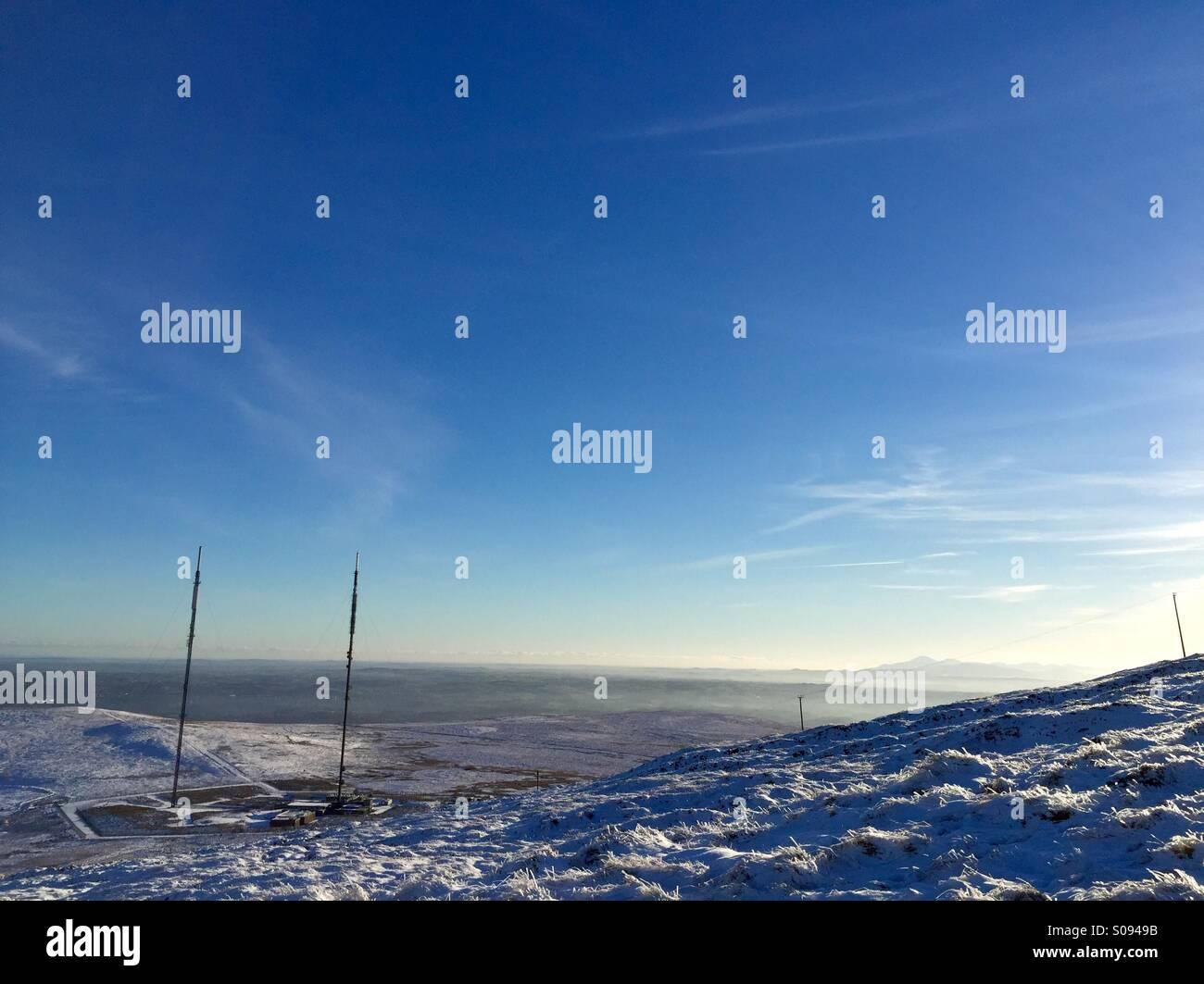 Belfast, Irlanda del Norte. 28 Dec 2014 - Vista de la mayor zona de Belfast de Divis montaña. Copyright Brendy Imagen De Stock