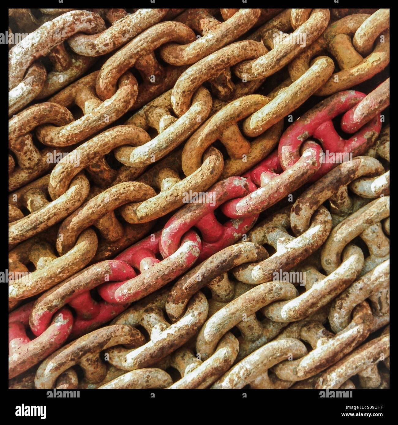 Cadena roja Imagen De Stock