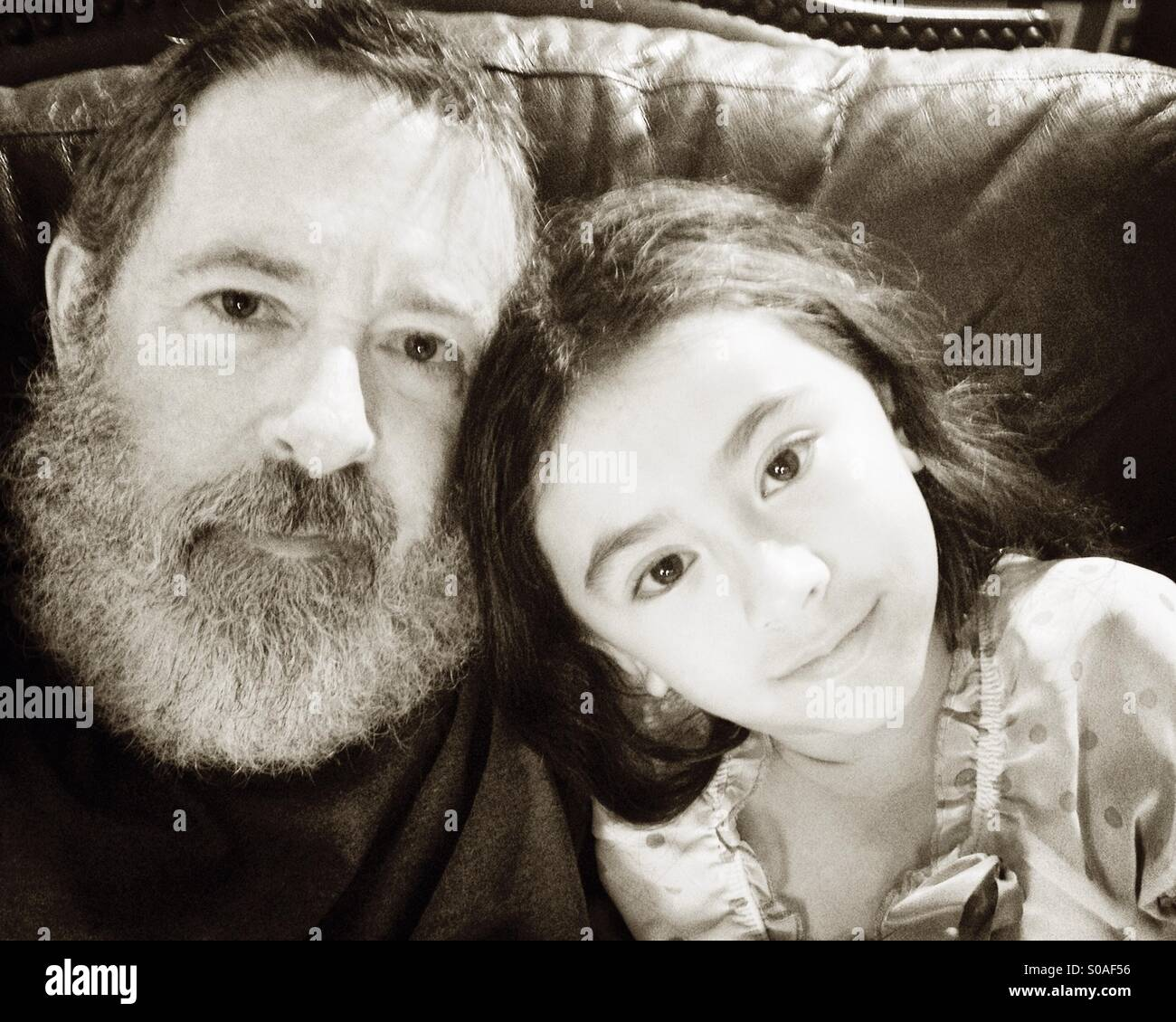 Padre e hija selfie. Imagen De Stock