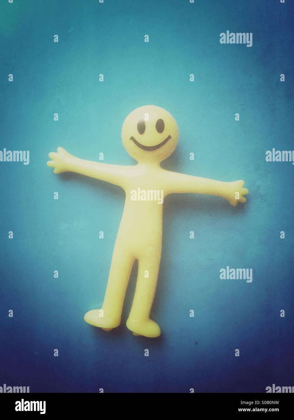 Cara sonriente de juguete de goma Imagen De Stock