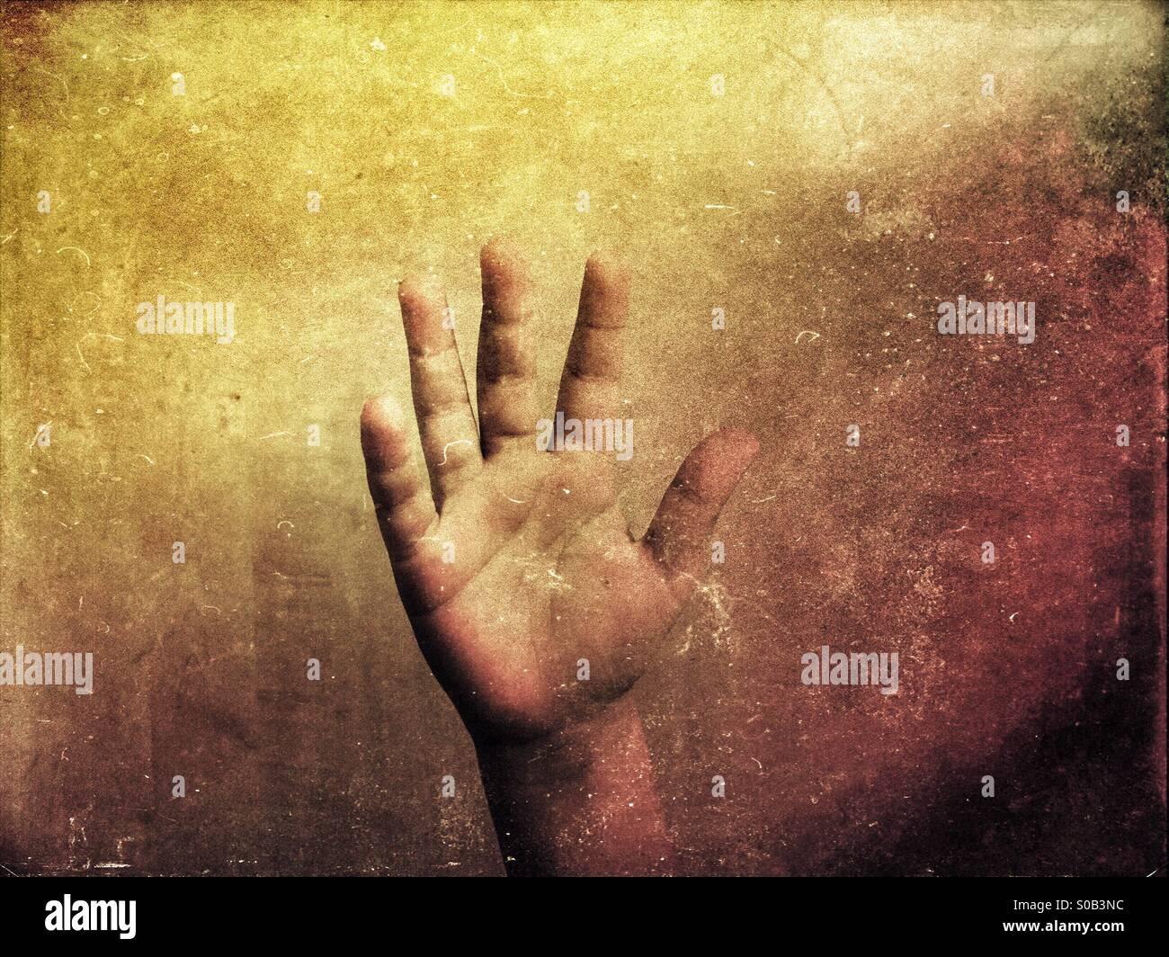 Poca mano del muchacho. Imagen De Stock