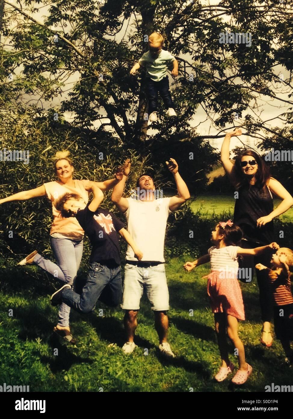 Día de la familia hacia fuera Imagen De Stock