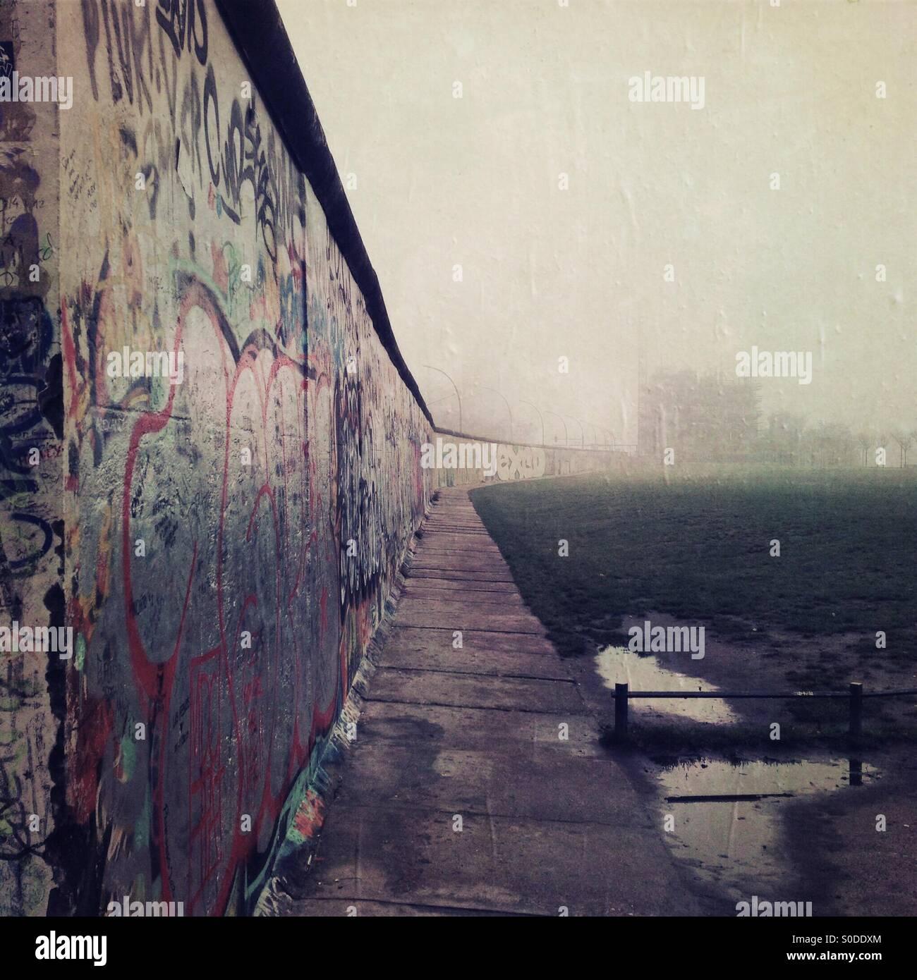 Muro de Berlín Imagen De Stock