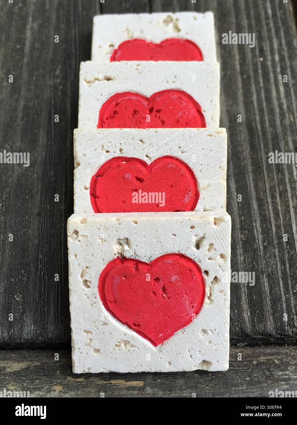 Juego de amor corazones Imagen De Stock