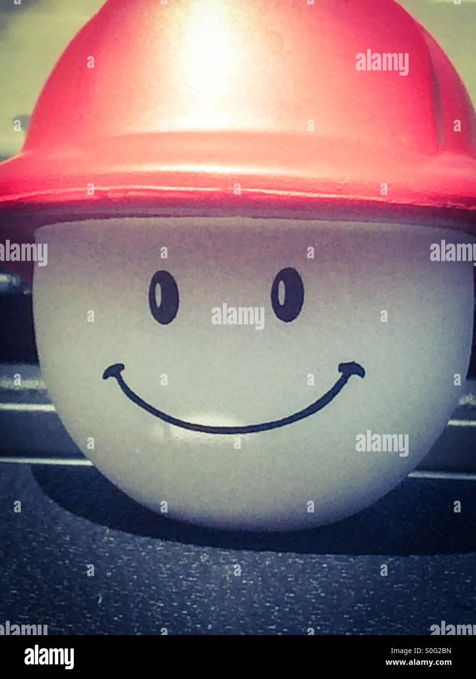 Y Smilin drivin Foto de stock