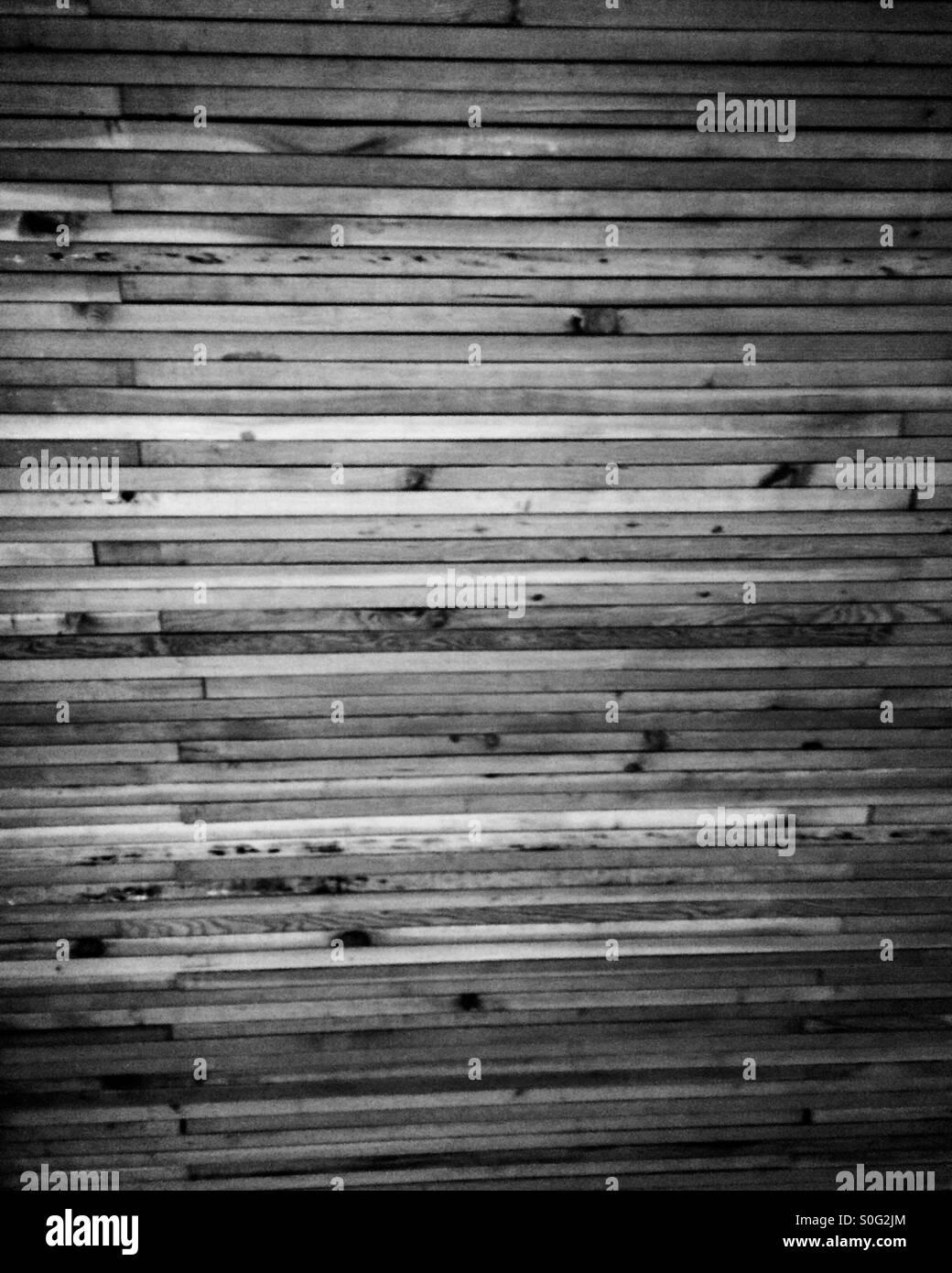 Paneles de madera en blanco y negro Imagen De Stock