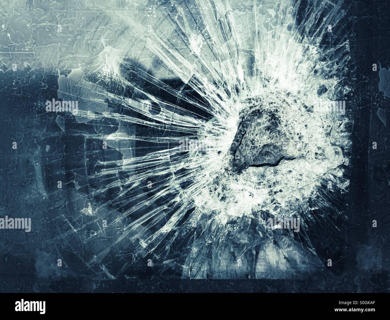Vidrio roto Imagen De Stock