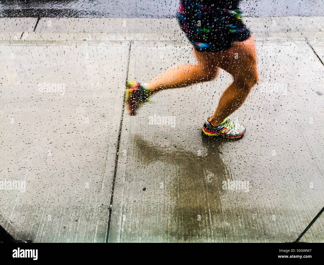 En el emparejador de lluvia Imagen De Stock