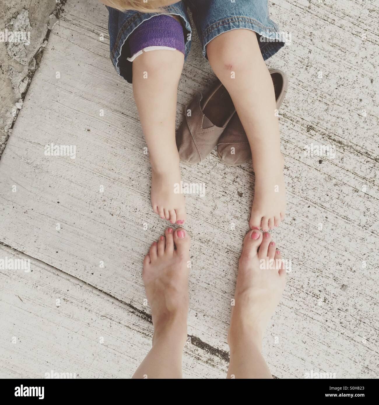 Dedos de los pies pintadas Foto de stock