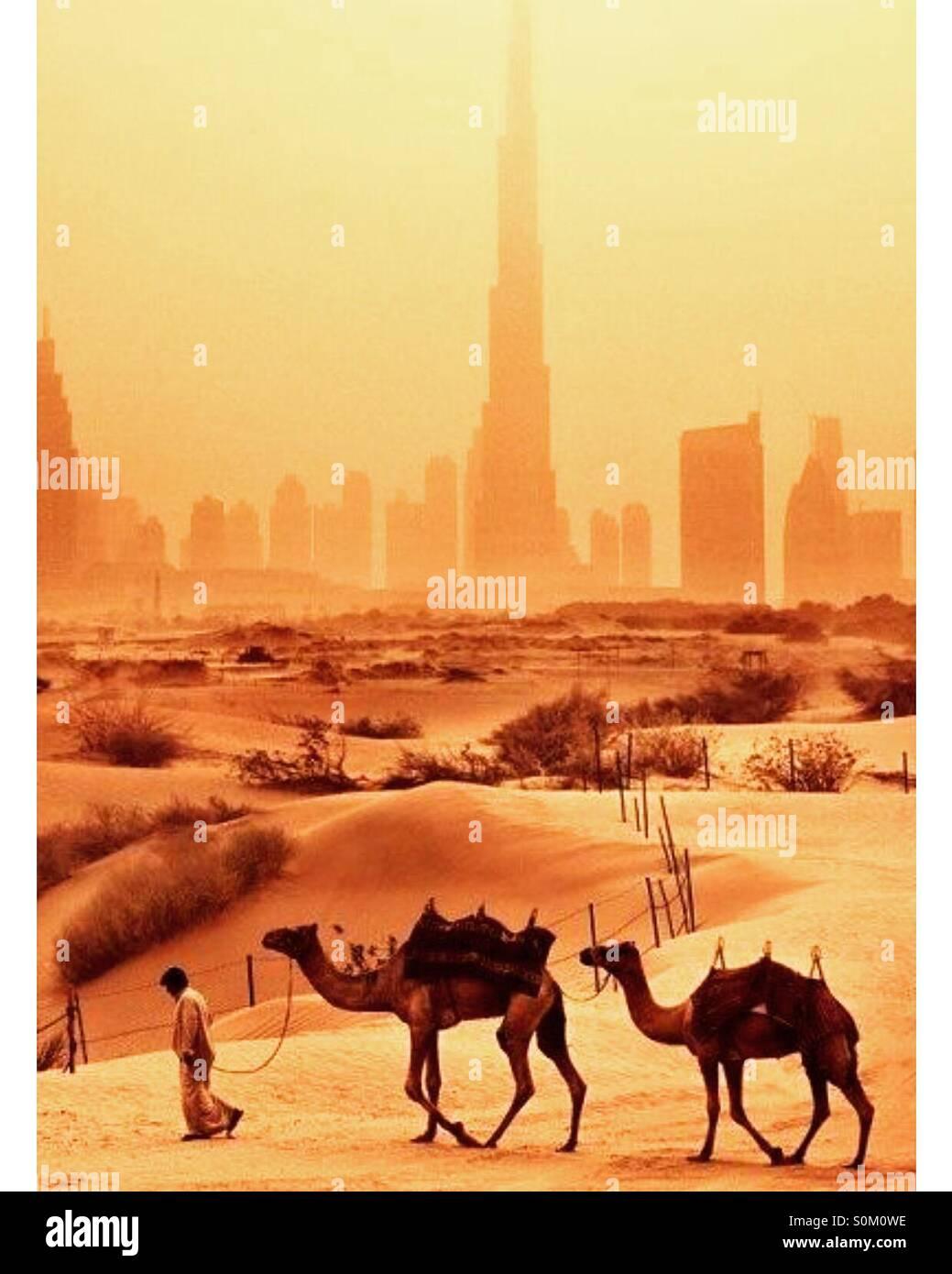 La evolución de Dubai. Imagen De Stock