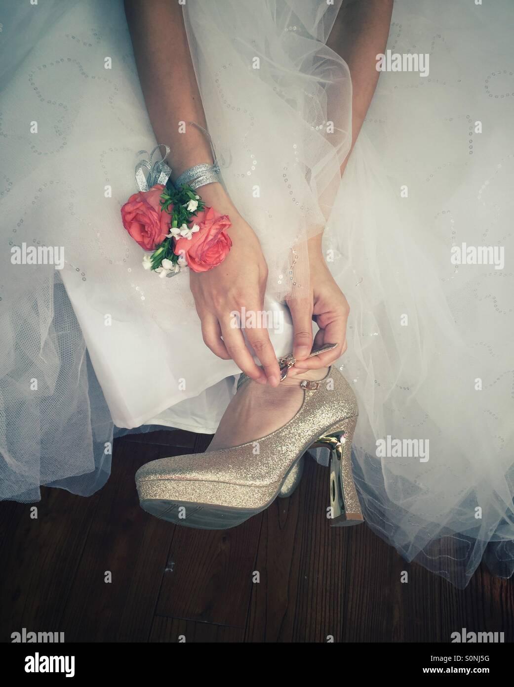 Zapatos de novia Imagen De Stock