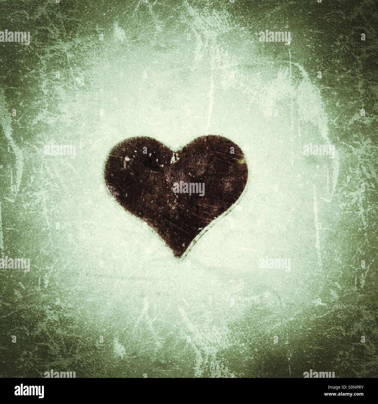Corazón negro textura Imagen De Stock