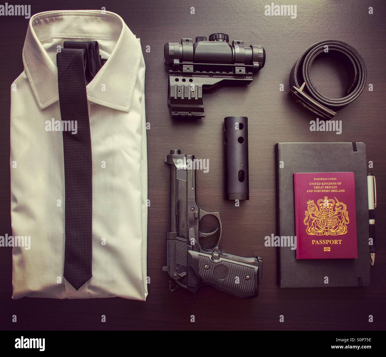 Secret Agent / spy travel kit Imagen De Stock