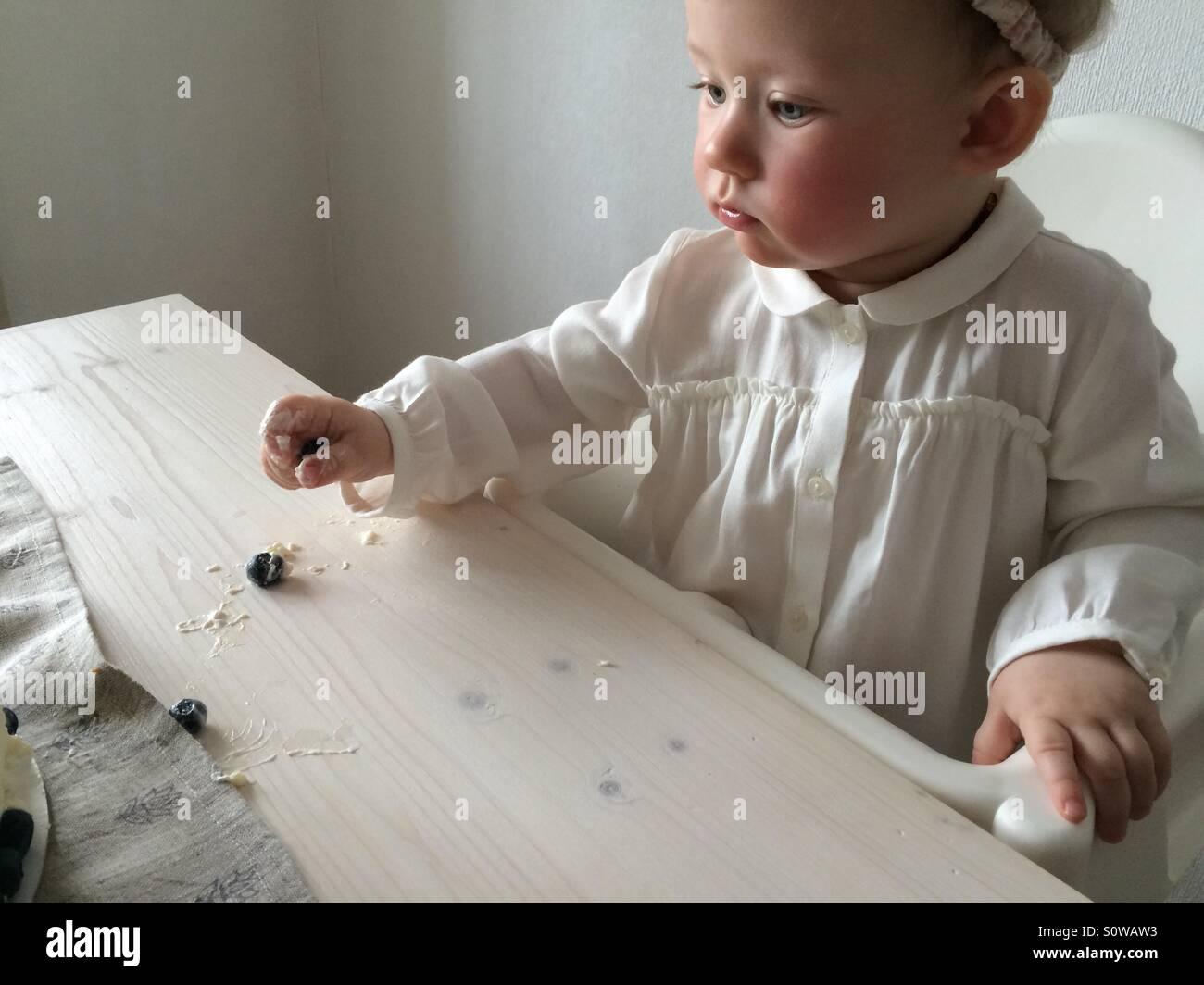 Primer cumpleaños del bebé Imagen De Stock