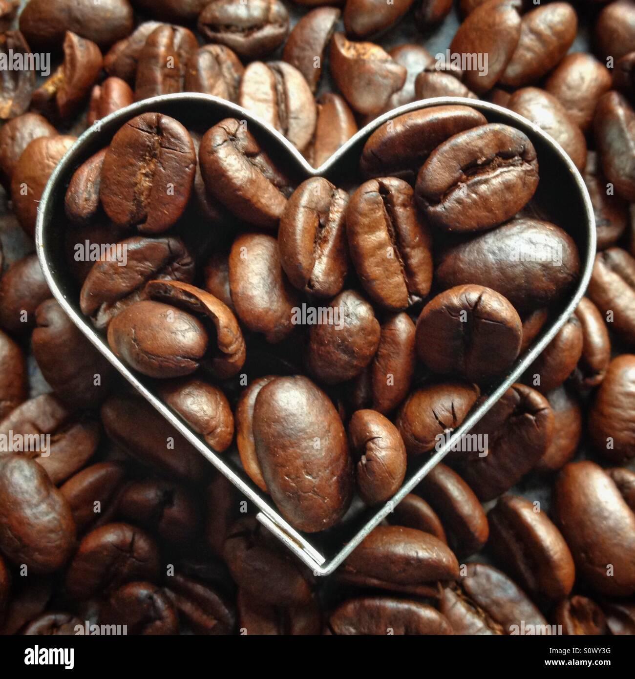 Café del amor Imagen De Stock