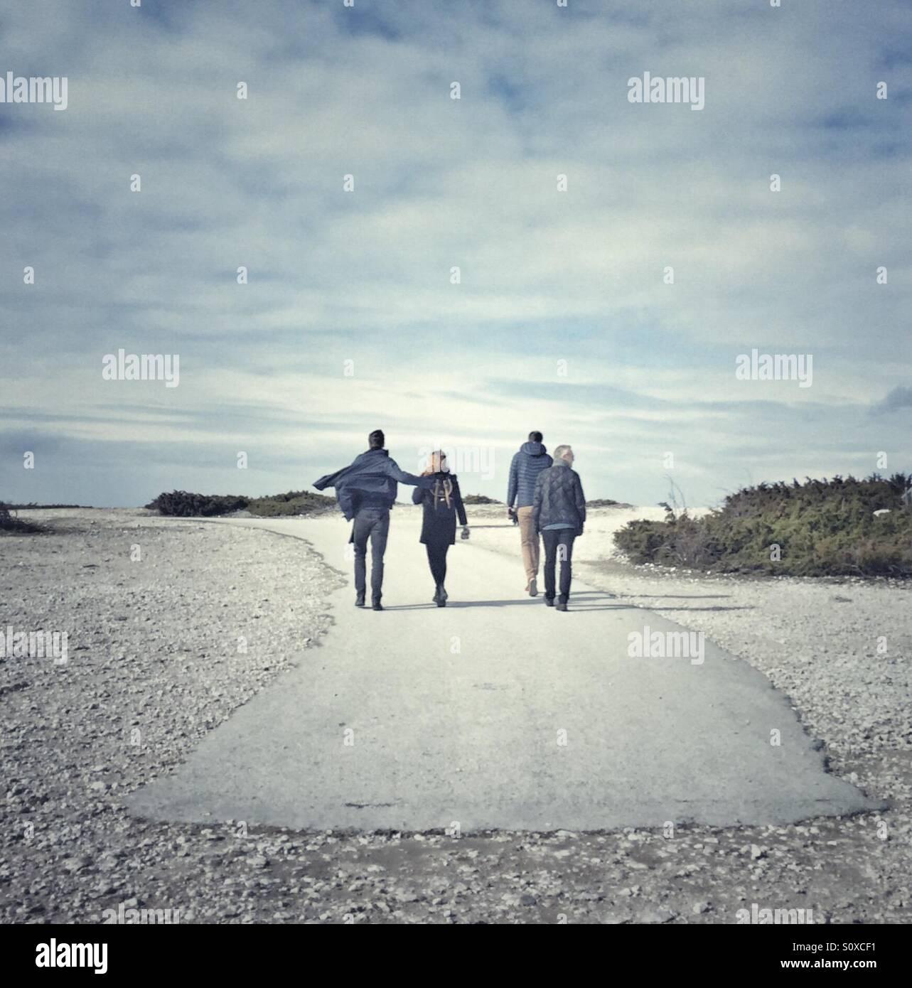 La gente en la isla de Fårö Gotland Suecia Imagen De Stock