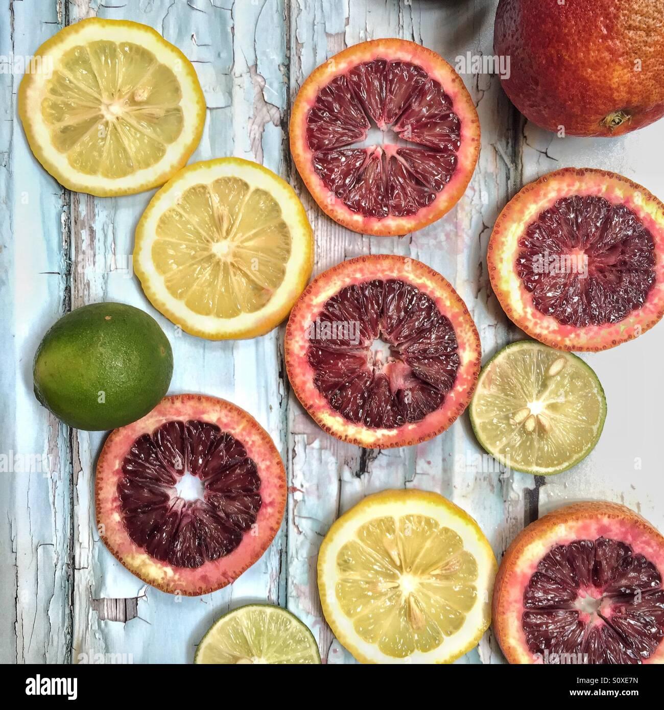 Frutas cítricas Imagen De Stock