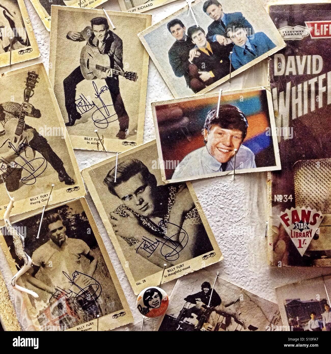 Muro de 1950 pin pop-ups Imagen De Stock