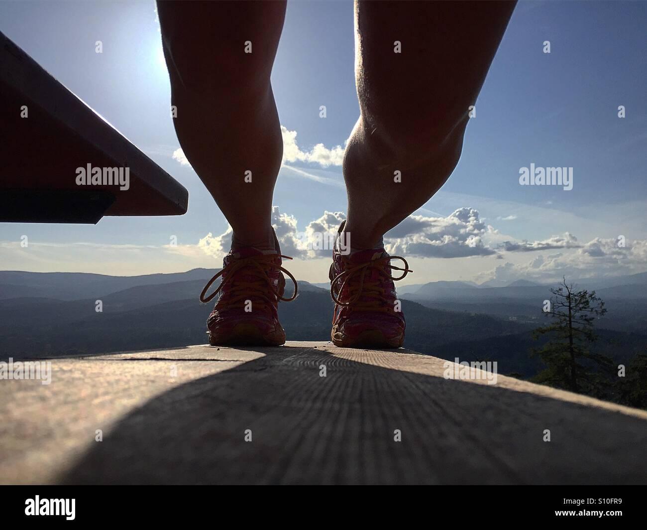En la Cumbre, Westcoast estilo Selfie Imagen De Stock
