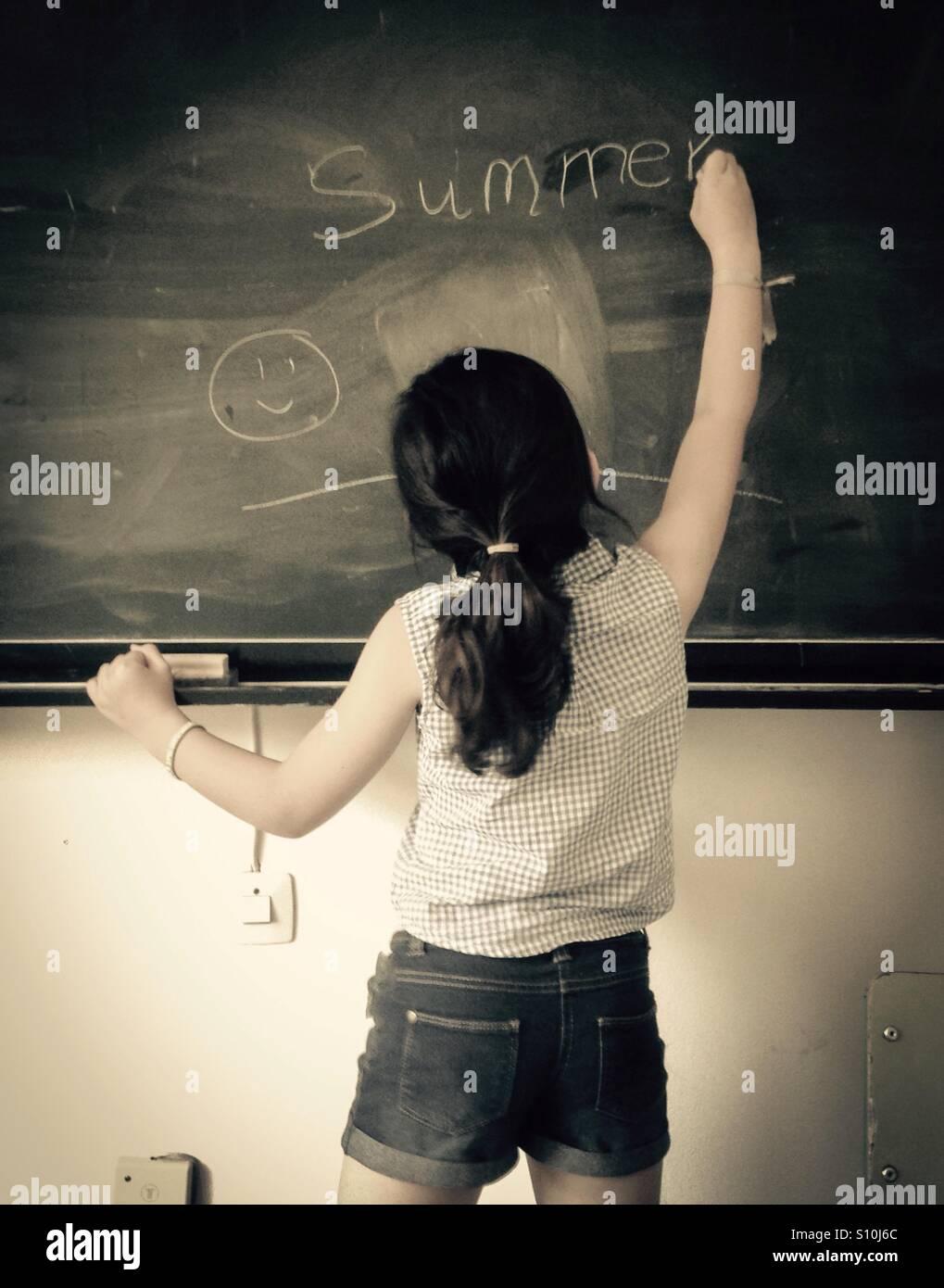 Las vacaciones escolares de verano Imagen De Stock