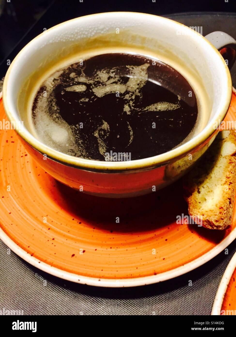 Taza de café americano Imagen De Stock