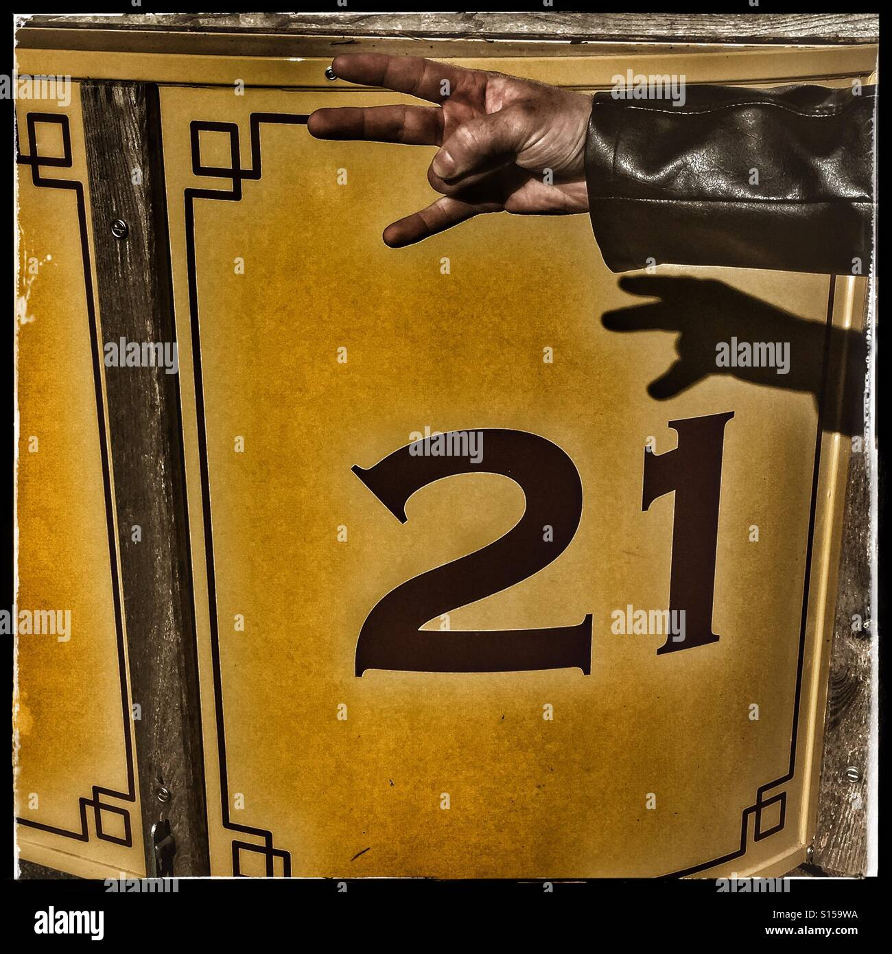 21 hoy! Rock on! Foto de stock