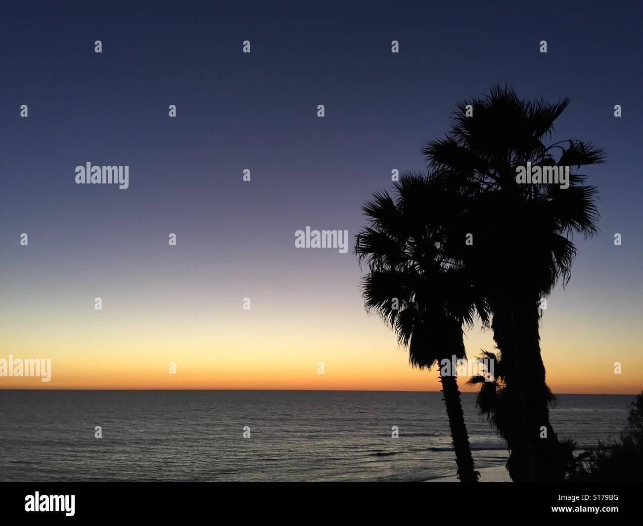 Sunset pacíficas. Foto de stock