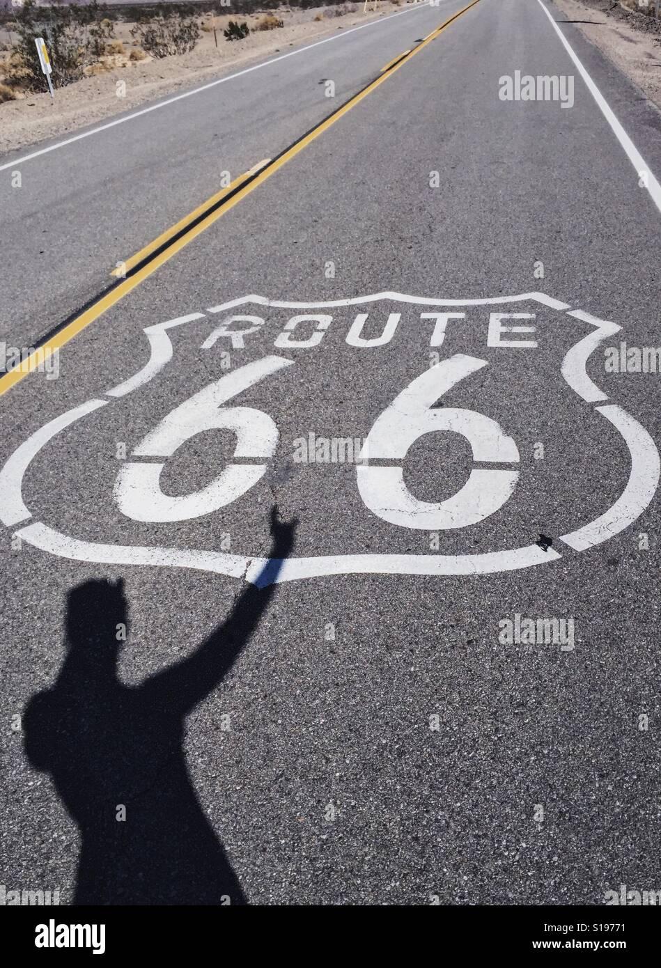 Balanceo en Ruta 66. Foto de stock