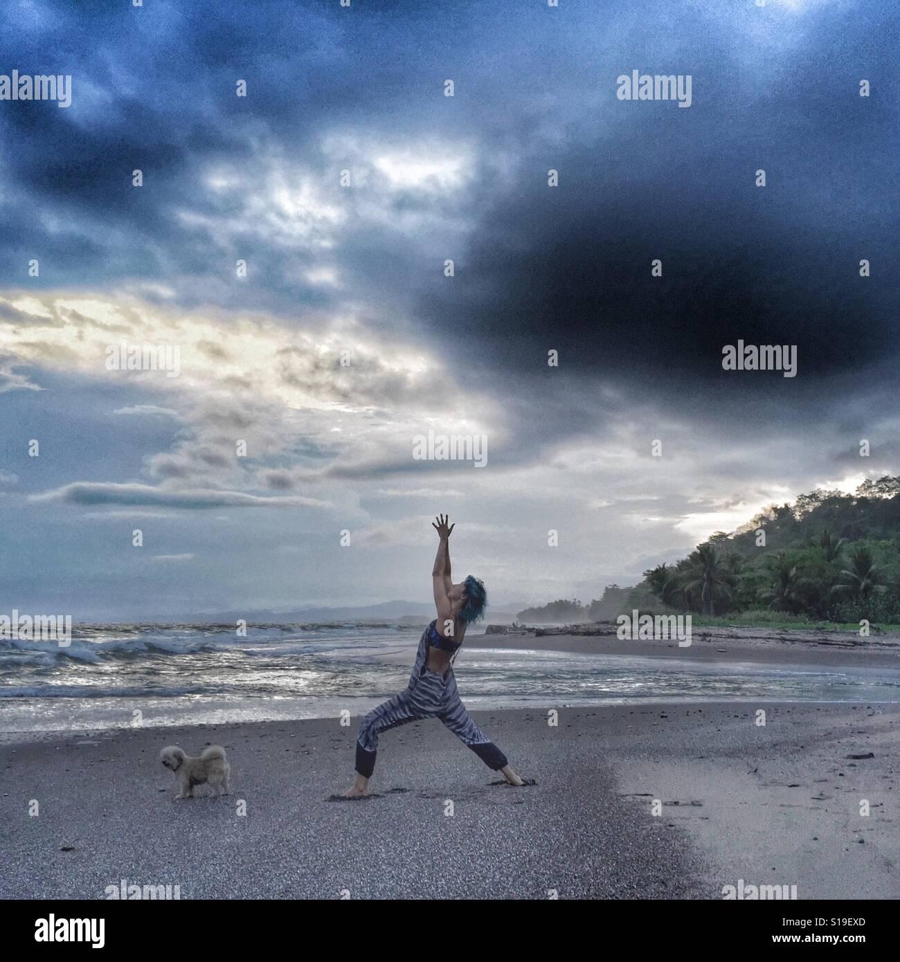 Guerrero antes de la tormenta Foto de stock