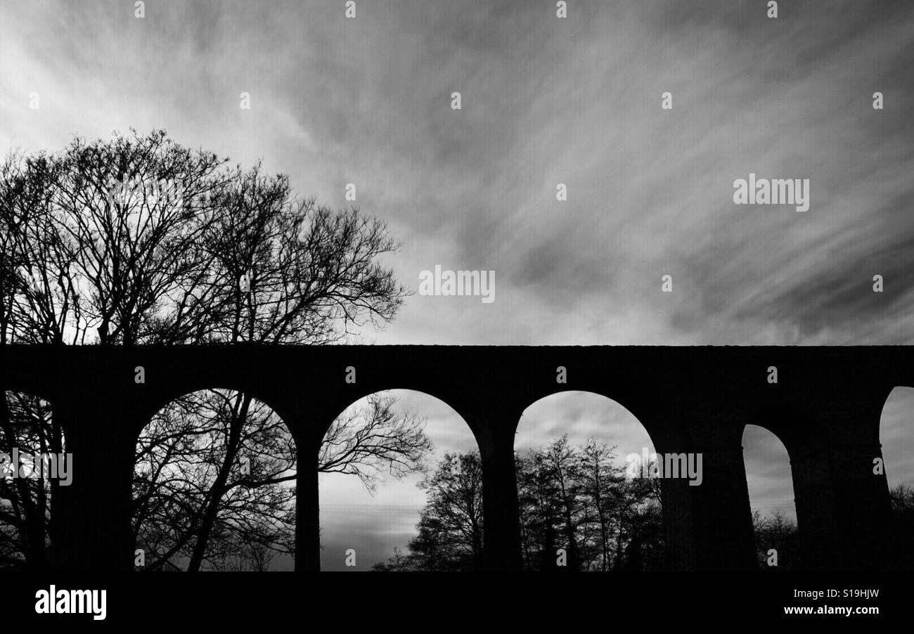 El viaducto en Pensford aldea cerca de Bristol, en el REINO UNIDO Foto de stock