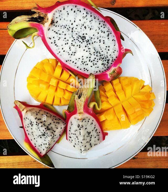 Placa de la fruta Foto de stock