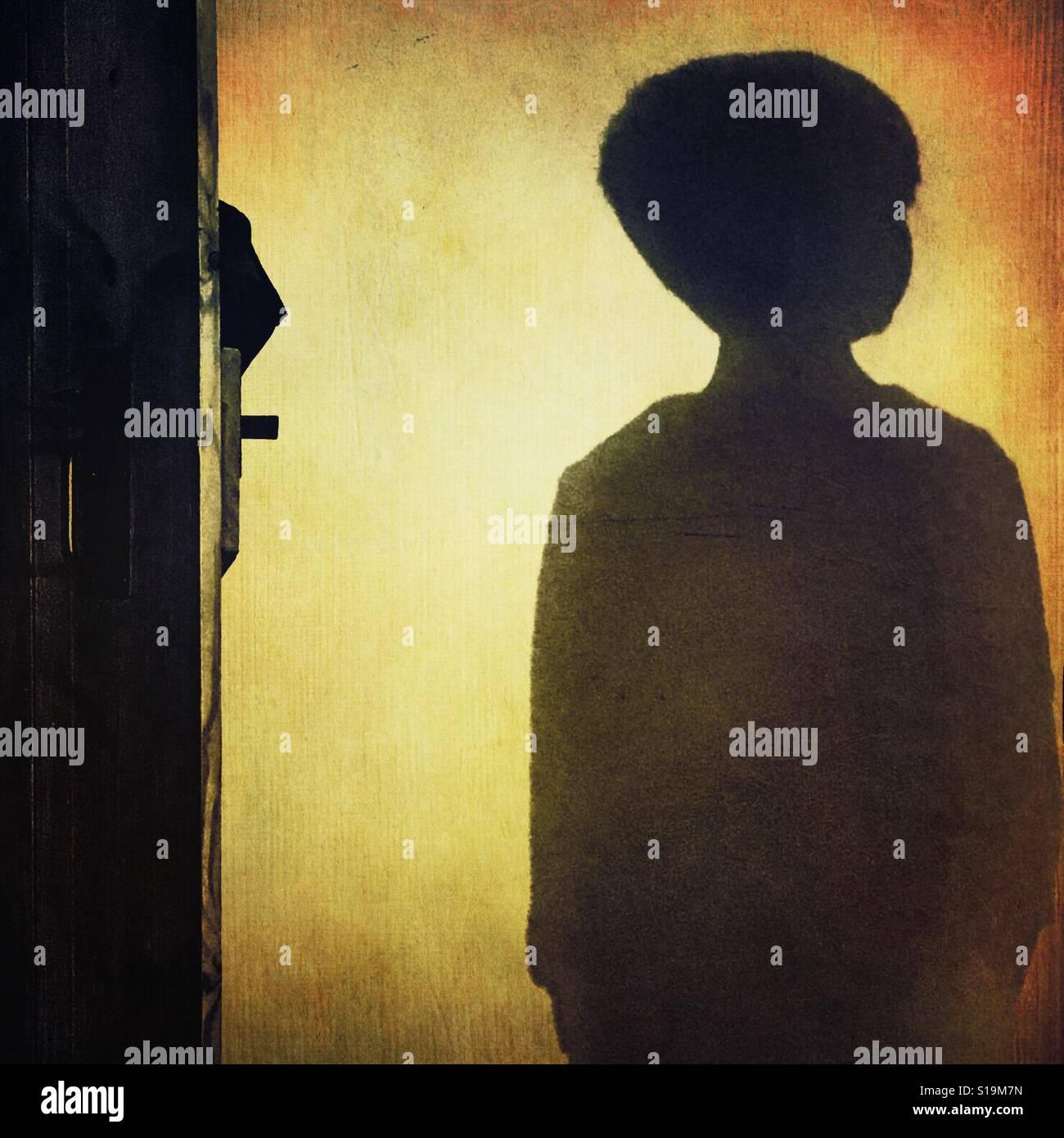 Sombra de niño Foto de stock