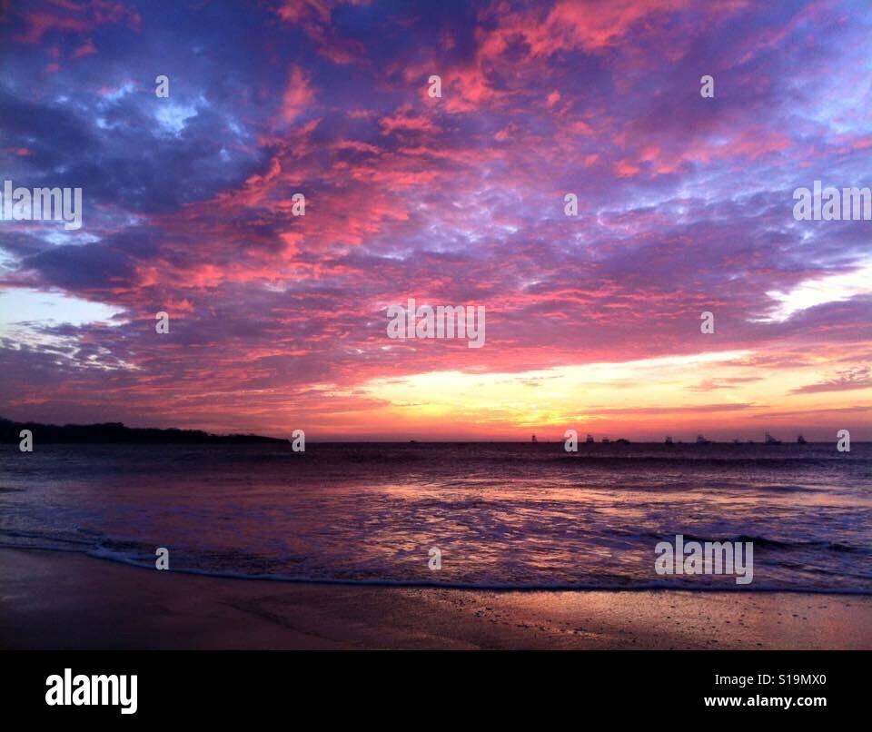 Sunset Costa Rica Foto de stock